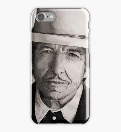 Bob Dylan portrait iPhone Case/Skin