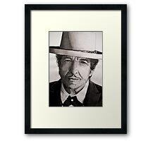 Bob Dylan portrait Framed Print