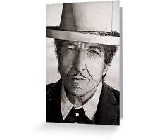 Bob Dylan portrait Greeting Card