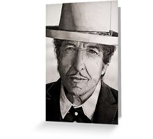 Bob Dylan portrait Greeting Card