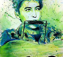 Young Bob Dylan portrait by geertvanleeuwen