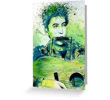 Young Bob Dylan portrait Greeting Card