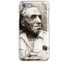 Charles Bukowski portrait iPhone Case/Skin