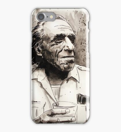 Charles Bukowski portrait iPhone Case/Skin