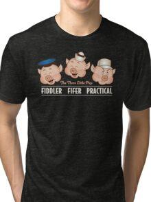 The Three Little Pigs 3 Tri-blend T-Shirt