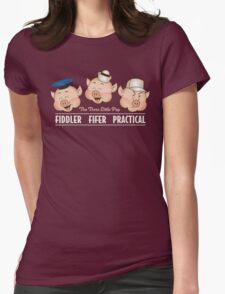 The Three Little Pigs 3 Womens Fitted T-Shirt