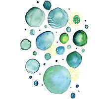Bubbles Watercolor Photographic Print