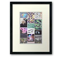 Pale Tumblr Collage Framed Print