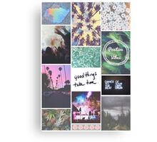 Pale Tumblr Collage Canvas Print