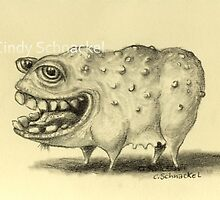 Monster with Soul Patch by Cindy Schnackel