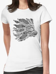 Stripes and Lion Head Womens Fitted T-Shirt
