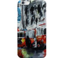 Fire Trucks New York Firefighters Acrylic Contemporary Painting iPhone Case/Skin