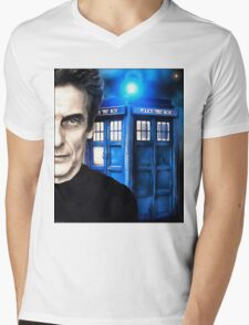 Doctor Who - Portrait of 12th Mens V-Neck T-Shirt