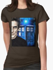Doctor Who - Portrait of 12th Womens Fitted T-Shirt
