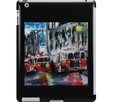Fire Trucks New York Firefighters Acrylic Contemporary Painting iPad Case/Skin