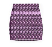 La Femme Pink Abstract Mini Skirt