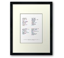 Daft Punk - Music in Colour Code Framed Print
