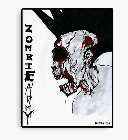 Zombie Army Canvas Print