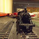 Model Locomotive, Santa Fe, New Mexico by lenspiro
