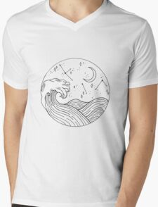 Seascape Mens V-Neck T-Shirt