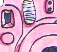 Pink instax camera Sticker