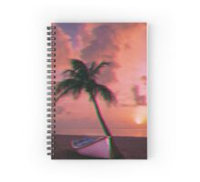 Trippy palm tree Spiral Notebook