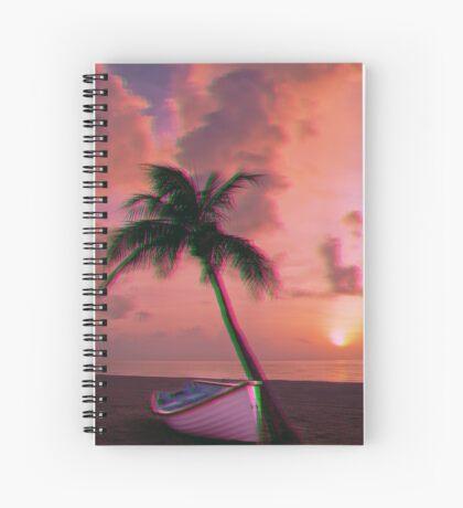 Trippy palm tree Spiral Notebook