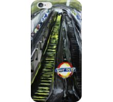 London Underground Urban Cityscape Jubilee Line Subway Station Escalators Contemporary Acrylic Painting iPhone Case/Skin