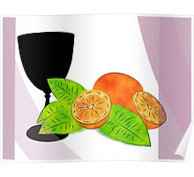 Chalice with fruits Poster
