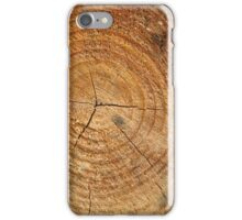 Pine tree trunk, cross section  iPhone Case/Skin