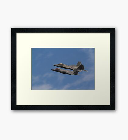 F22 And F35  Framed Print