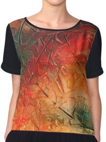 Primitive abstract 1 by rafi talby Chiffon Top
