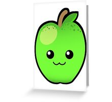 Green Granny Smith Apple Greeting Card