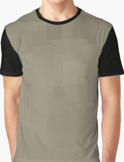 Desert Taupe Square Pixel Color Accent Graphic T-Shirt