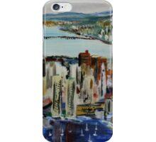 Boston Cityscape Massachusetts East Coast United States Contemporary Acrylic Painting iPhone Case/Skin