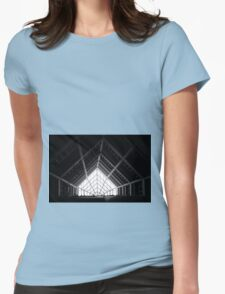 Architectural abstract black and white Womens Fitted T-Shirt