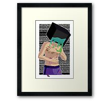 how disgusting Framed Print