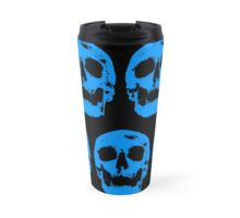 Blue Skull Travel Mug