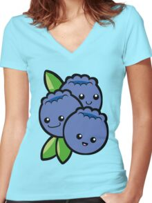 I Found My Thrill on Blueberry Hill Women's Fitted V-Neck T-Shirt
