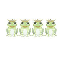 Quadruplet Frogs by Jean Gregory  Evans