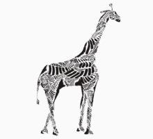 Stripes and Giraffe Kids Tee