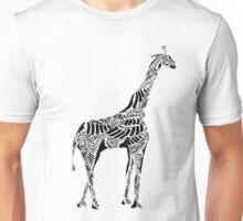 Stripes and Giraffe Unisex T-Shirt