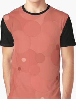 Desert Flower Bubble Dot Color Accent Graphic T-Shirt