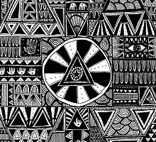 Mystery Black and White Pattern by Stacey Muir