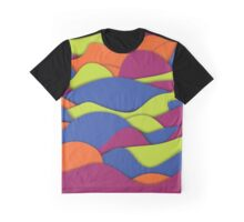 Neon Abstract Funky wave Pattern Graphic T-Shirt