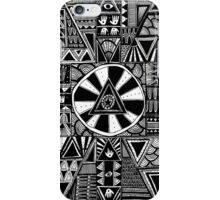 Mystery Black and White Pattern iPhone Case/Skin