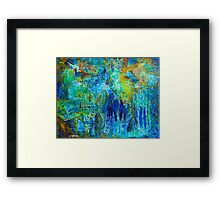 SYNAPSE - Colorful Painting by Deb Breton Framed Print