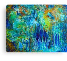 SYNAPSE - Colorful Painting by Deb Breton Canvas Print