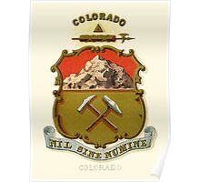 Historical Coat of Arms of Colorado  Poster