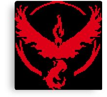 Pixel Valor 8-bit Red Canvas Print